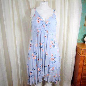 Torrid Summer Dress pink flowers plus size